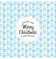 christmas design with background pattern vector image vector image