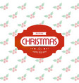 christmas greeting card with light background and vector image vector image