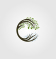 circle tree logo letter c design vector image
