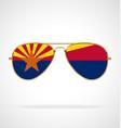 cool gold aviator sunglasses with arizona az flag vector image vector image