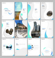 creative brochure templates with fluid colorful vector image vector image