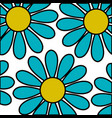 cute sunflower isolated pattern vector image