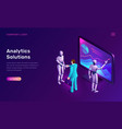 data analysis or analytics solutions isometric vector image