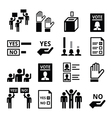 Democracy voting politics icon set vector image
