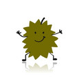 durian funny character for your design vector image vector image