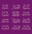 eid fitr mubarak hand letter typography greeting vector image