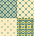 elegant collection four geometric seamless vector image vector image