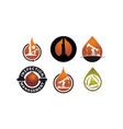 energy advantage oil mining set vector image vector image