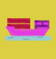 flat icon in shading style ship with containers vector image vector image