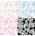 floral hand drawn seamless pattern set vector image vector image