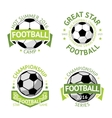 Football labels green vintage vector image vector image