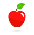fruit icon with isolated apple vector image vector image