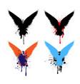 grunge raven set vector image vector image