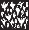 halloween ghosts ghostly monster with boo scary vector image vector image
