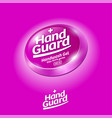 hand guard logo antiseptic virus protection label vector image vector image