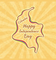 happy independence day in colombia greeting card vector image vector image