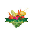 healthy food sign food ingredient background vector image