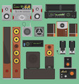 home music sound acoustic system equipment vector image