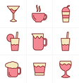 Icons Style Drink Icons Set Design vector image vector image