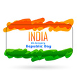 indian 26th january republic day design vector image vector image