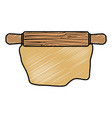 kitchen roller isolated icon vector image