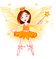 Little orange fairy vector image vector image