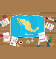 mexico economy country growth nation team discuss vector image