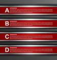 modern infographic options banner design elements vector image vector image
