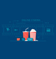 online cinema banner concept with filmstrip vector image