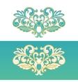 Ornate floral element for design vector image