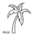 palm tree icon outline style vector image