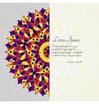 Pattern with chakra manipura and text place vector image