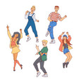 people dance set - diversity vector image