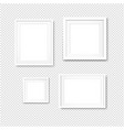 picture frame set isolated transparent background vector image vector image