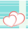 postcard hearts vector image