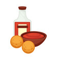 potato food dish fried croquettes balls snack vector image