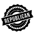 Republican stamp rubber grunge vector image