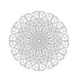 round abstract ornament of coloring book for vector image vector image
