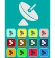 Satellite dish - icon isolated vector image