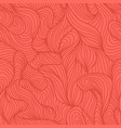 seamless abstract red hand drawn pattern vector image vector image