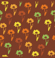 seamless floral pattern with daisy flowers vector image vector image