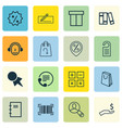 set of 16 e-commerce icons includes refund box vector image vector image