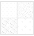 set of four seamless backgrounds with circles vector image