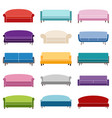 set of sofa icons vector image vector image