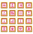 shop navigation foods icons pink vector image vector image