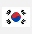 simple korean flag for your infographics vector image