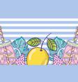 summer juice cartoons vector image vector image