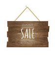 Summer Sale Wooden Board vector image vector image