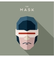 Superhero robot mask and glasses serious strict vector image vector image