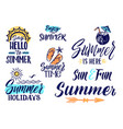 text letters for summer time handwriting vector image vector image